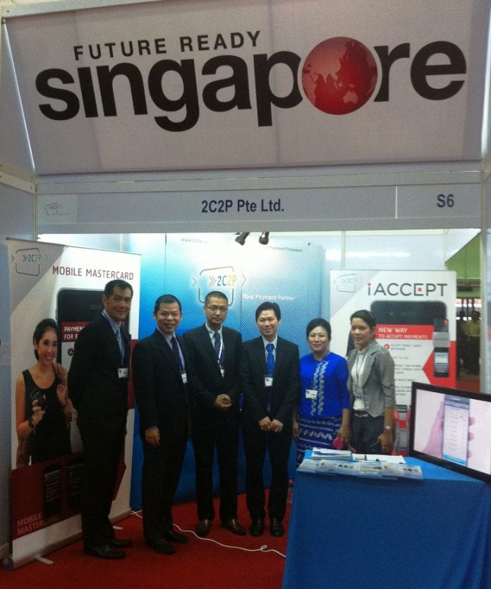 The 2C2P team, part of the delegation led by IDA Singapore at the International Myanmar ICT Exhibition 2013_Credit to IDA Singapore