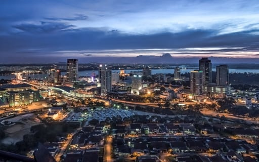 Johor bahru from pacific mall tower Sam Gao