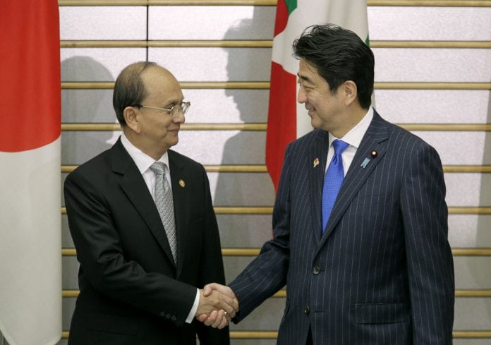 japan loan abe thein sein japan asean