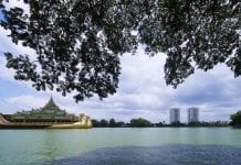 Kandawgyi Lake View from Shangri-La Residences Yangon