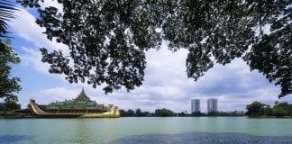 Kandawgyi Lake View from Shangri-La Residences Yangon