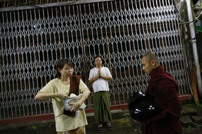 Myanmar donation monk economy