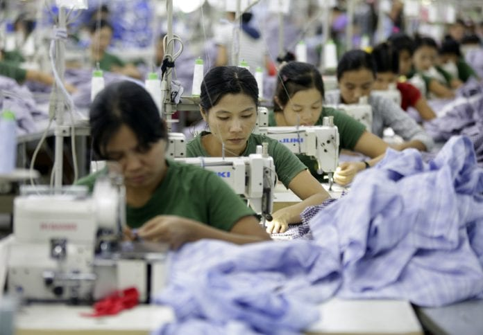 Myanmar garment investment foreign economy manufacturing production women (4)