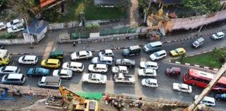 Automobile, traffic Yangon jam cars