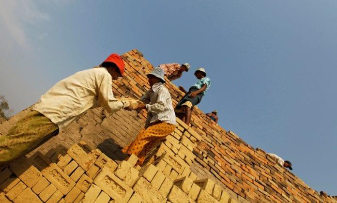 Myanmar labourers