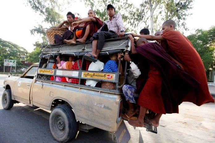 Myanmar yangon cars auto passenger pickup - Copy
