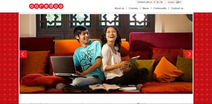 Ooredoo website screenshot