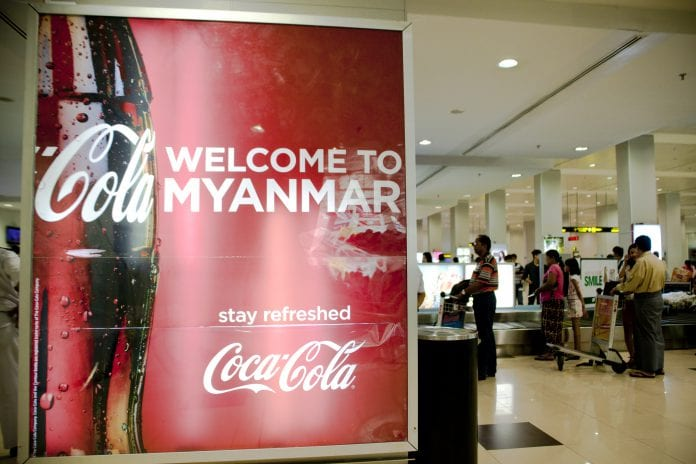 Coca cola-investment-Myanmar-America