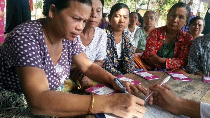 Disbursement in Kaw Hmu Township3