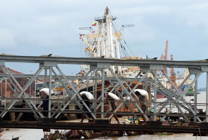 Port myanmar economy trade