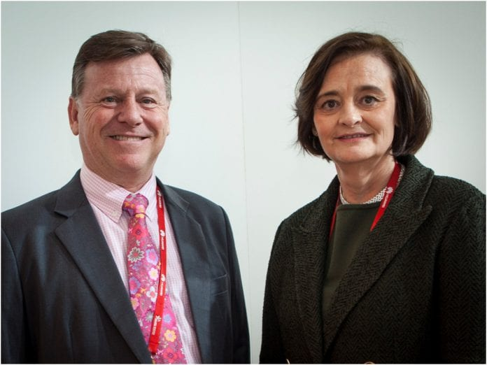 Ross cormack and Cherie Blair b