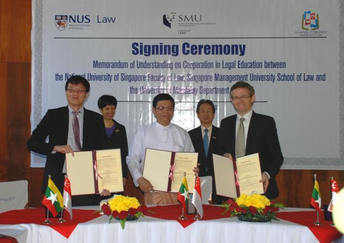 Singapore Law SMU NUS MoU