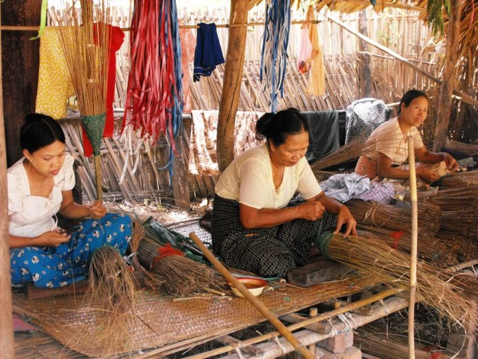 MFI funded home based income generating activities at village level at _Chaung U-2