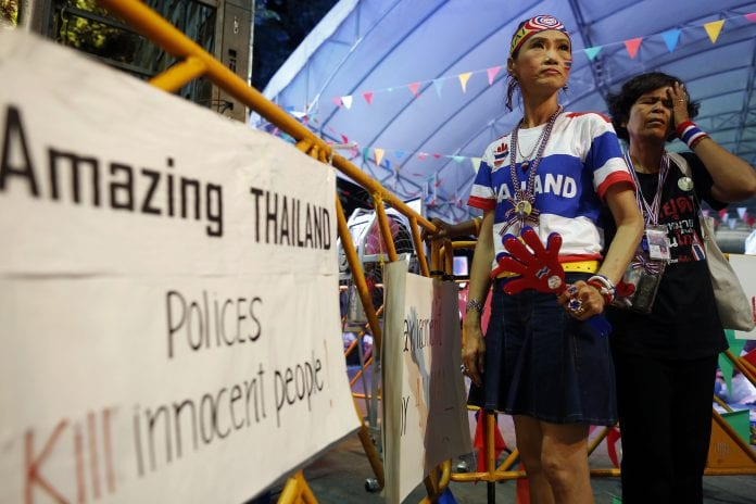 thailand protest tension