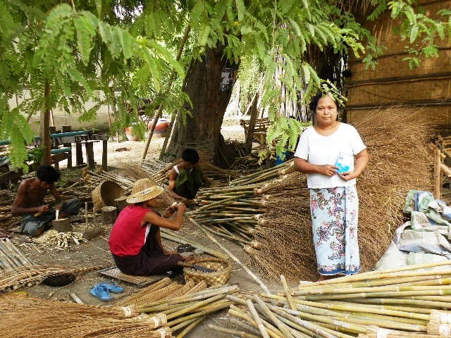 MFI funded home based income generating activities at village level at _Chaung U-3
