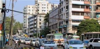 Myanmar Yangon traffic infrastructure cars economy