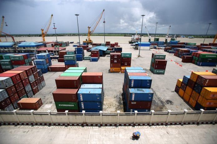 trade export myanmar economy growth container business