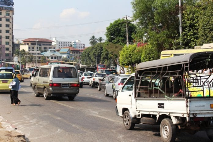 Hilux Yangon car traffic auto