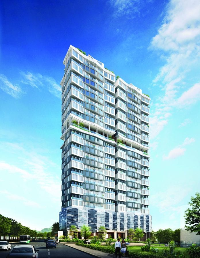 INFINITY High-rise luxury condominium exterior