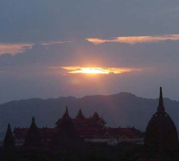 Bagan sunset tourism david ross MBT