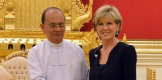 Julie Bishop Thein Sein Myanmar Australia Nay Pyi Taw MBT