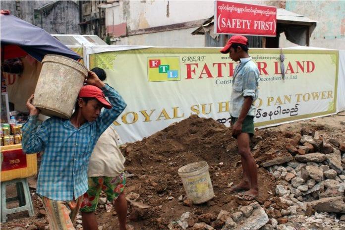 Myanmar Yangon construction property child