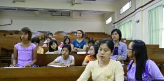Myanmar education classroom university Myanmar Business Today vocational student