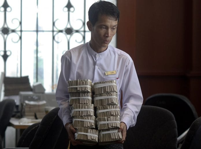 Myanmar kyat dollar bank investment