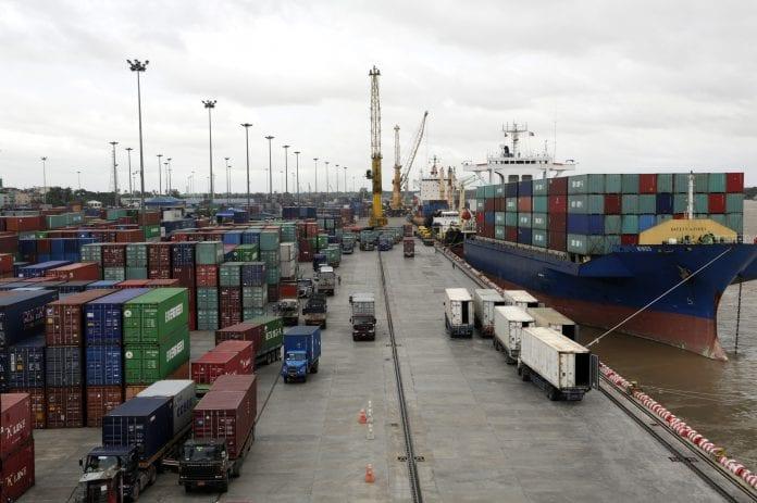Myanmar port economy container export trade (1)