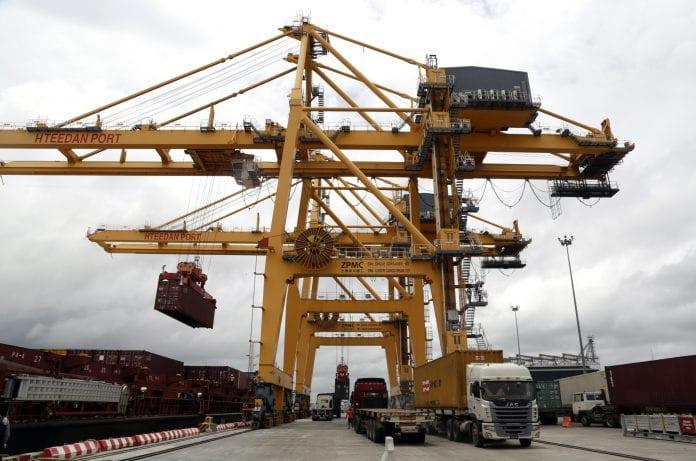 Myanmar port economy container export trade (4)