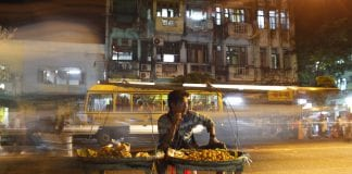 Myanmar street vendor economy development growth
