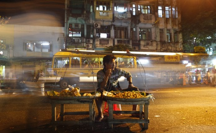 Myanmar street vendor economy development growth
