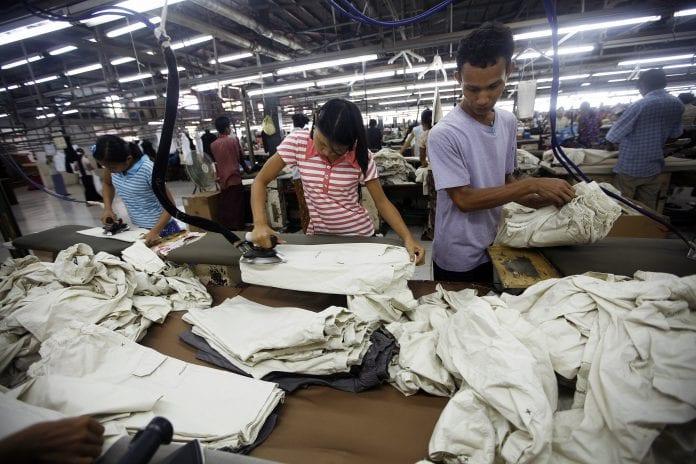 myanmar garment Hlaing Tharyar Industrial zone Reuters
