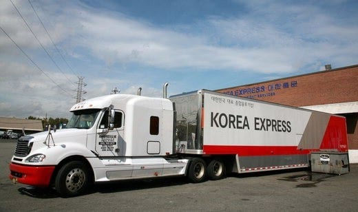 CJ korea express truck