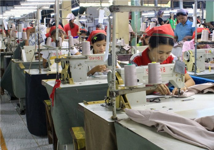 Myanamr garment factory industrial zone yangon EU labour electricity power industry (41)