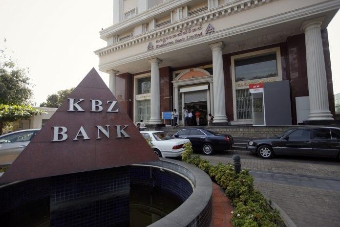 Myanmar kyat dollar bureau bank kbz credit loan interest economy investment (3)