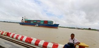 Myanmar trade port container river export economy business investment ship (1)