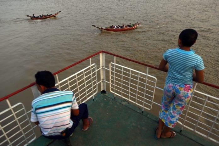 myanmar yangon ferry river bridge economy people 2