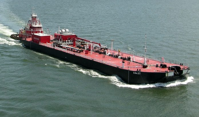 oil tanker barge ship bollingershipyards