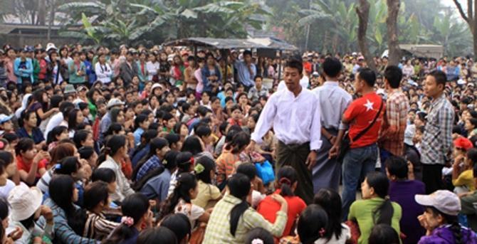 shoe factory yangon dispute wage labour