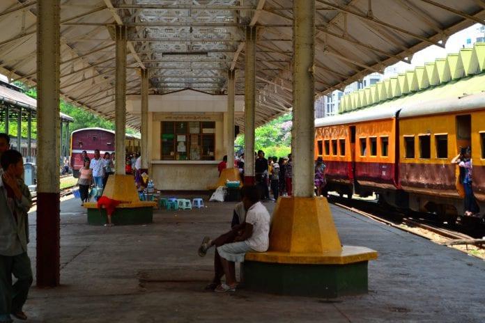 yangon circle line train 3