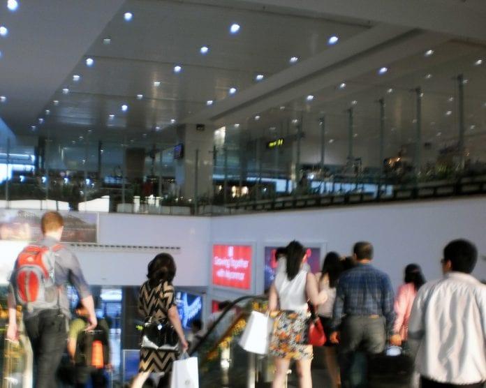 Yangon airport visitors tourists