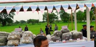 myanmar drug heroin poppy illegal seizure burn