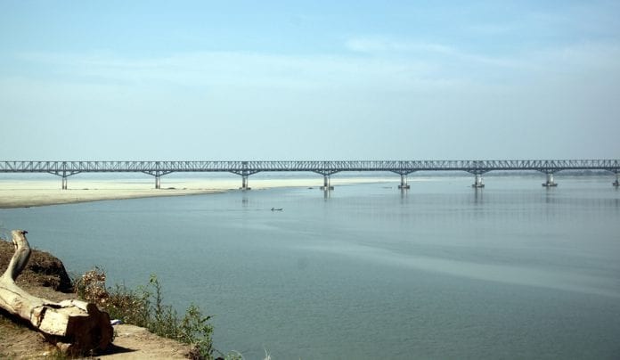 Ayeyarwaddy river bridge