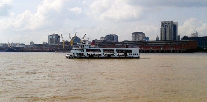 Dala ferry Yangon river