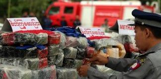Myanmar Drug destruction poppy heroin marijuana police (2)