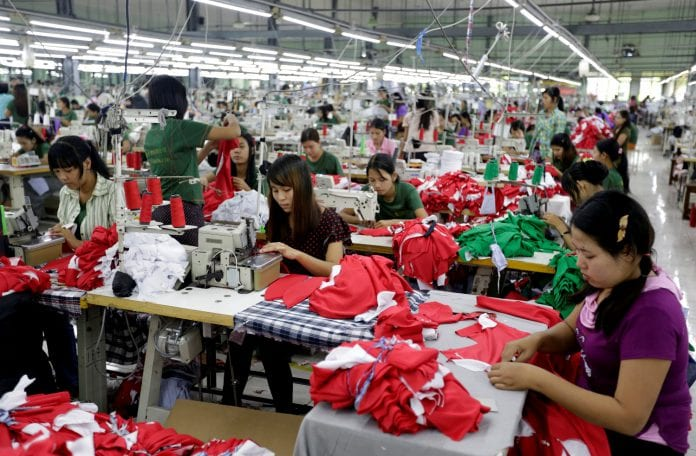 Myanmar garment investment foreign economy manufacturing production women (2)