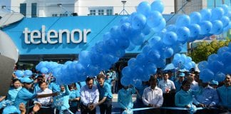 Official opening of Telenor shop