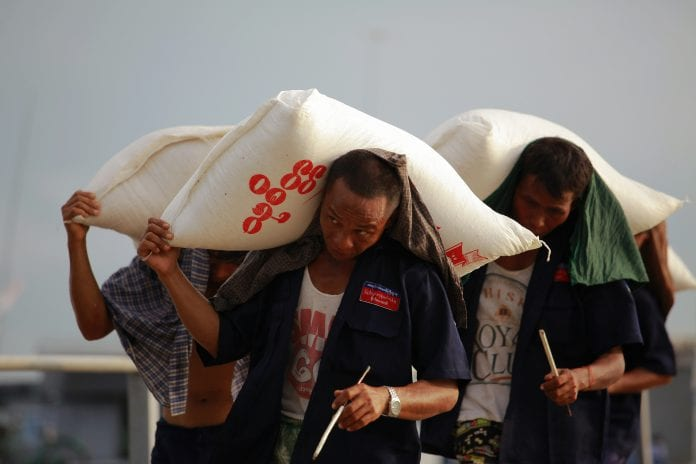 Rice labour labor kyaukphyu economy wage salary