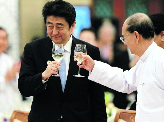 Shinzo Abe, Thein Sein